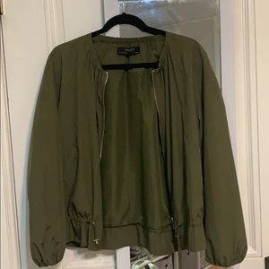 Green Zara Bomber Jacket